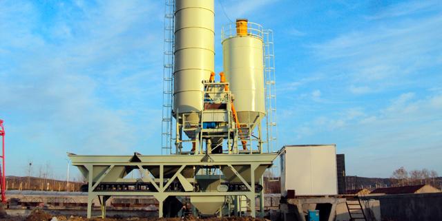 Растворо-бетонная установка HZS35