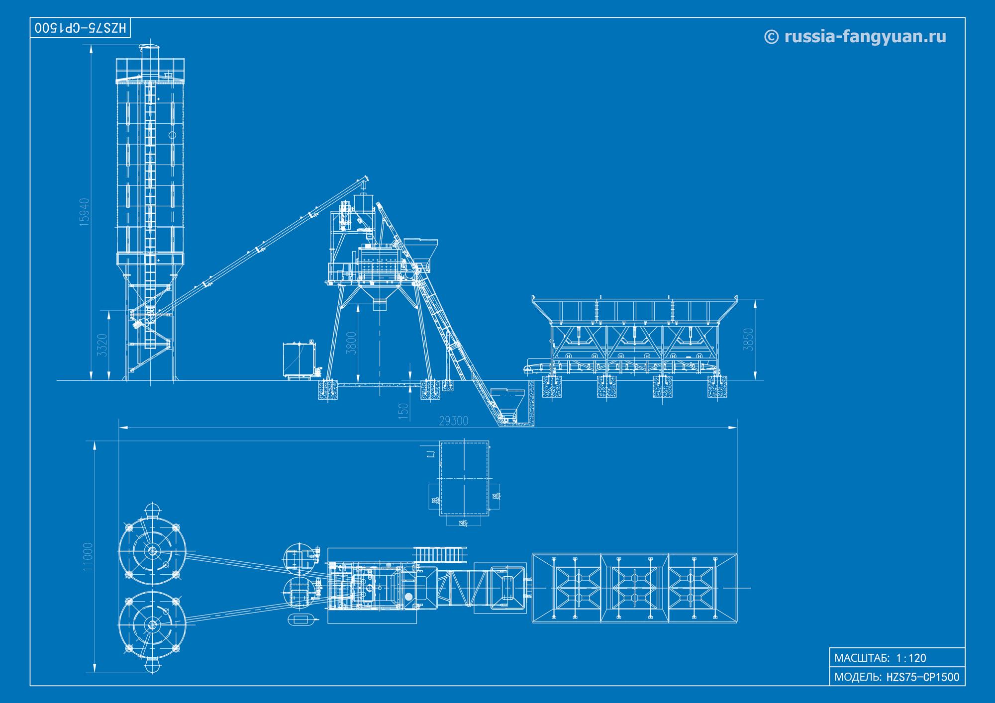 Схема БСУ HZS75-CP1500