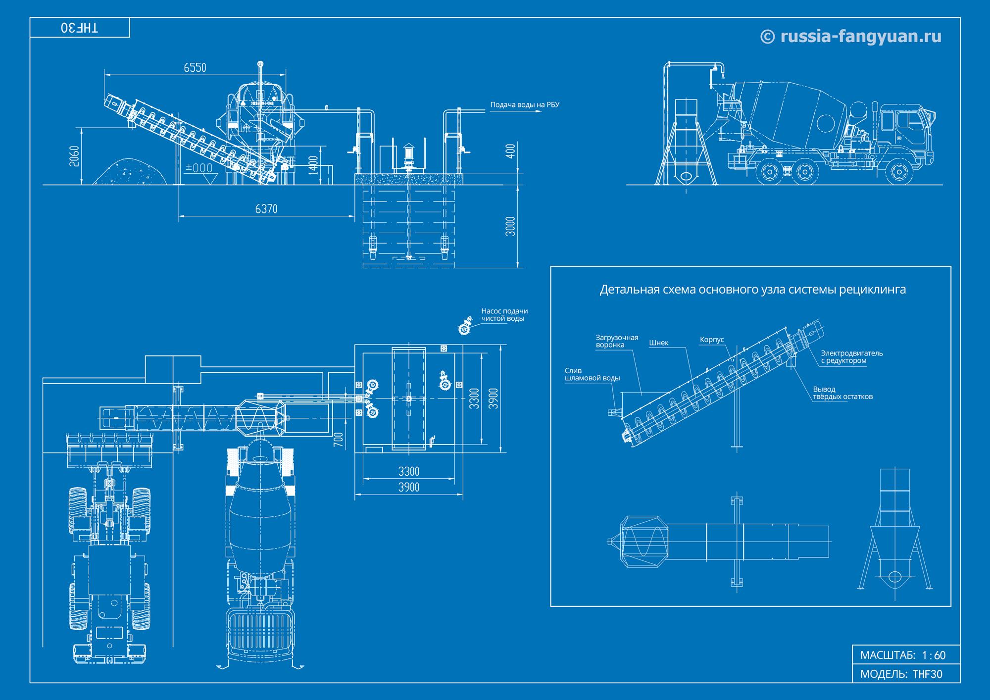 Схема системы рециркуляции бетона