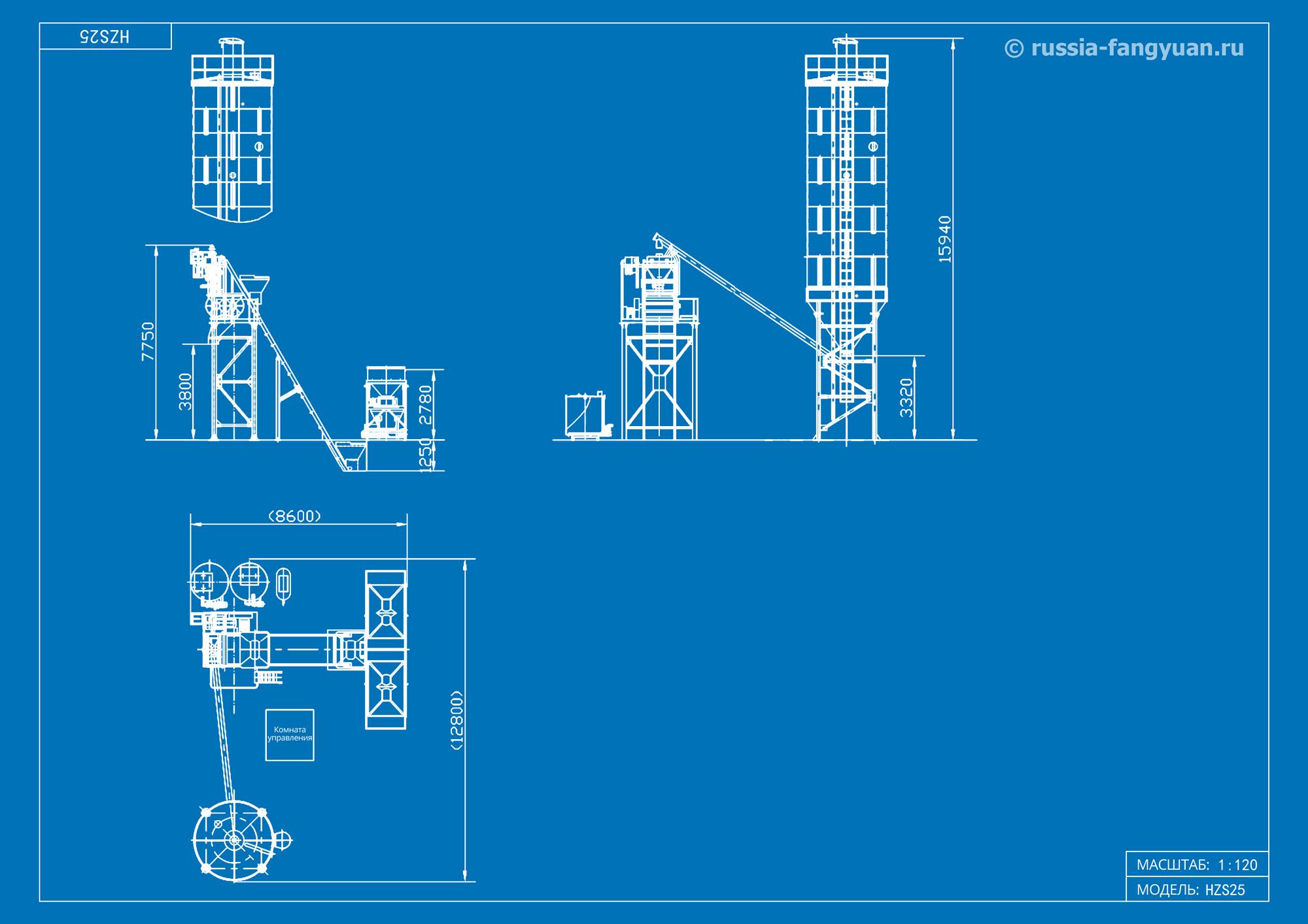 Схема БРУ HZS25